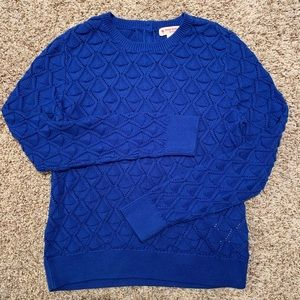 NWOT Brooks Brothers Red Fleece Blue Knit Sweater